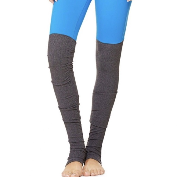 0bcf6888f77ac ALO Yoga Pants | Goddess Leggings In Seaport Blue Gray Nwt | Poshmark